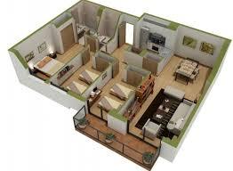 layout ruangan rumah minimalis denah apartemen 3 kamar tidur minimalis 3d 11 plus ruang belajar