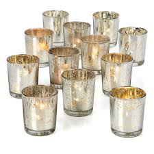 silver mercury glass votives z gallerie