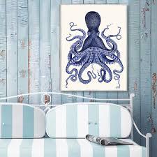 octopus print blue octopus print 3 nautical home decor