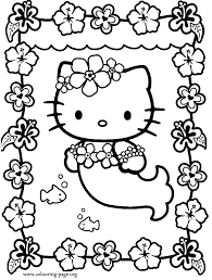 fancy hello kitty mermaid coloring pages 79 for coloring books