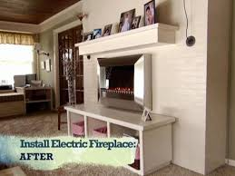 Electric Fireplace With Mantel Install An Electric Fireplace With Custom Built Mantel And Hearth