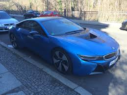 Bmw I8 All Electric - bmw i8 protonic blue spotted again