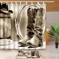 cowboy shower curtain ebay