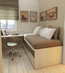 Office Bedroom Combo by Bedroom Office Combo Ideas Gold Fur Rug Light Blue Wall Shelves