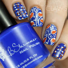 orange and blue combination copycat claws the digit al dozen does color contrasts blue and