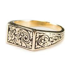 signet wedding ring made rectangle signet ring in goldpagesepsitename