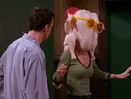 geller turkey thanksgiving friends find make