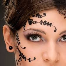 Henna Eye Makeup De 19 Bästa Henna Face Tattoos Bilderna På Pinterest
