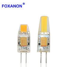 high quality led lights dimmable g4 led 12v ac dc cob light 3w 6w high quality led g4 cob