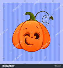 vector illustration cartoon winking cute halloween stock vector