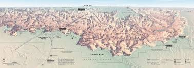 Colorado Elevation Map by Maps Grand Canyon National Park U S National Park Service