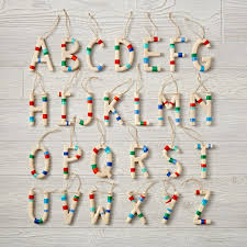 wooden letter ornaments the land of nod
