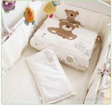 Baby Comforter Sets Promotion Embroidery Cot Baby Bedding Set Crib Bed Linen Baby Bed