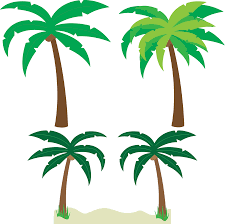 palm tree art tropical palm trees clip art go back images for 4