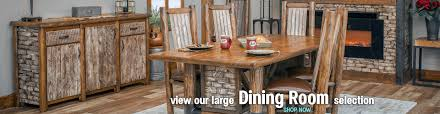 rustic dining room furniture log furniture rustic furniture cabin decor great prices