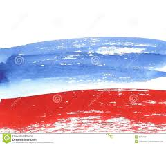 Russian Flag Colors Watercolor Russian Flag Abstract Banner Of Russia Stock
