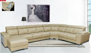 beige leather sectional sofa 8312 leather sectional sofa w sliding seats in beige free shipping