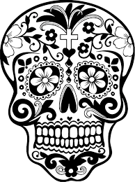 halloween candy coloring pages sugar skull wall vinyl decal sticker art graphic sticker