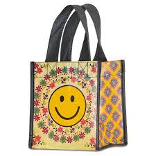 happy thanksgiving smiley face natural life smiley face gift bag small handbags u0026 purses