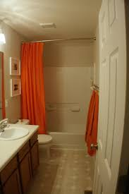 endearing brown and orange bathroom accessories bathroom small