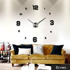 wall clocks diy 3d mirror surface sticker modern diy large wall clock home