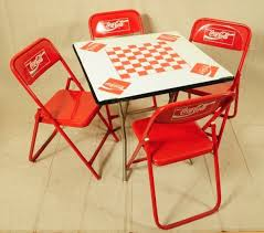 coca cola table and chairs coca cola furniture 375 coca cola game table with 4 chairs coca