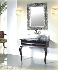 large framed bathroom mirrors black framed vanity mirror small bathroom decoration using