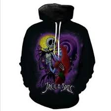 new hat nightmare before printed pullover pocket hoodies