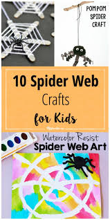 halloween spiders crafts 10 spider web crafts for kids tip junkie