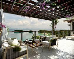 Oceanview House Plans Ocean View Patio With Bouganvillea Outdoor Lounge Interior