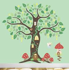 Woodland Forest Peel And Stick Enchanted Forest Decal Kids Woodland Wall Stickersmagical