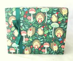 hedgehog wrapping paper hedgehog christmas wrapping paper gift wrap 10 ft x 2 ft