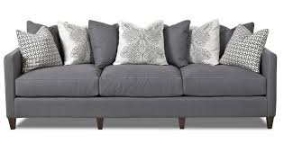 Pillow Back Sofas klaussner jordan large 3 cushion tuxedo arm sofa with scatterback