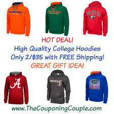 ncaa hoodies 2 for 35 free shipping deal