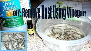 diy rust removal using vinegar shower curtain rings youtube
