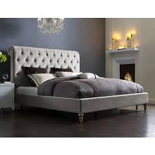 Velvet Bed Frame Putnam Grey Velvet Bed Frame And Headboard Free Shipping Today