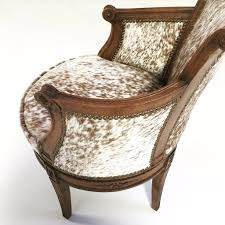 vintage swivel chair in brown and white speckled cowhide u2013 forsyth