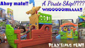 toy channel toddlers and kids u0027 pirate ship big playset unboxing