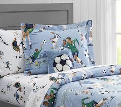 Soccer Comforter Organic Vintage Soccer Duvet Cover Pottery Barn Kids
