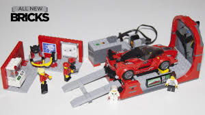 lego porsche minifig scale lego speed champions 75882 ferrari fxx k u0026 development center with