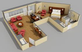 1bed room 3d home plan home design