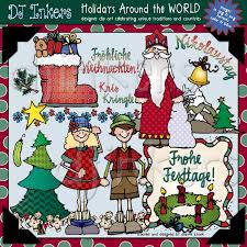holidays around the world clipart printables by dj inkers dj