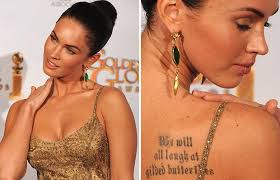 megan fox we will all laugh at gilded butterflies meaning
