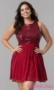 Red Cocktail Dress Plus Size Full Figure Dresses And Plus Size Prom Gowns Promgirl