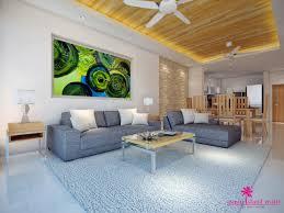 sea view living room chaweng noi sea view villas samui island realty