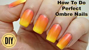 how to do perfect ombre nail art design in hindi ओ ब र