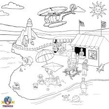 thomas tank engine coloring sheets pictures sewn