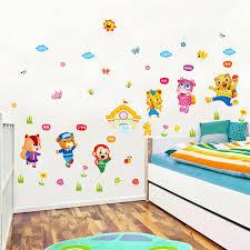 stickers animaux chambre b la fundecor aller à l école stickers muraux pour chambres d