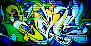 space wall murals uk ideasidea s wall mural motiv graffiti blue green graffiti
