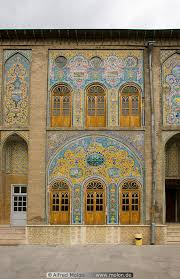facade with ornamental windows picture golestan palace tehran iran